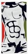 Pop Art Body  Beach Towel