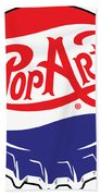 Pop Art Bottle Cap Beach Towel