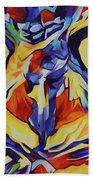 Pop Art Owl Face-1 Beach Sheet