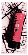 Pop Art Pillar Post Box Beach Towel