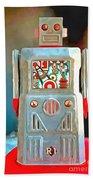 Pop Art Robot R-1 Beach Towel