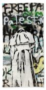 Pope Free Palestine Beach Towel