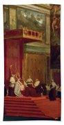 Pope Pius Vii Luigi Barnaba Chiaramonti Attending Chapel 1820 Beach Towel