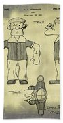 Popeye Doll Patent 1932 In Weathered Beach Towel