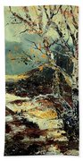 Poplars 45 Beach Towel