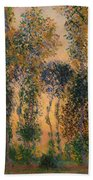 Poplars At Giverny - Sunrise Beach Towel