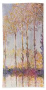 Poplars On The Banks Of The Epte Beach Towel