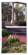 Popp Fountain Brickway Path Beach Towel