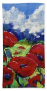 Poppies 003 Beach Towel