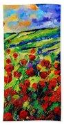 Poppies 78 Beach Towel