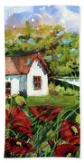 Poppies And Laundry Beach Towel
