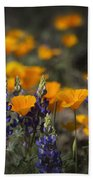 Poppies And Lupines  Beach Towel