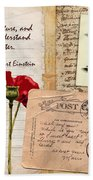 Poppies And Postcards Beach Towel