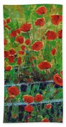 Poppies And Traverses 1 Beach Towel