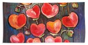 Poppies Are Hearts Of Love We Can Give Away Beach Towel