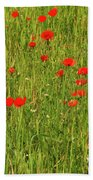 Poppies In A Wheat Field Beach Towel