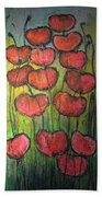 Poppies In Oil Beach Towel