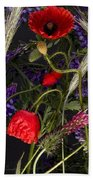 Poppies In The Corn Beach Towel