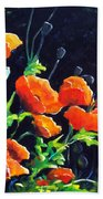 Poppies In The Light Beach Towel