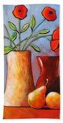 Poppies N Pears Beach Towel