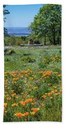 Poppies With A View At Oak Glen Beach Sheet
