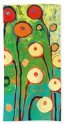Poppy Celebration Beach Towel by Jennifer Lommers