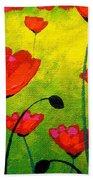 Poppy Cluster Beach Towel