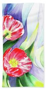 Poppy Couple Gentle Wind Beach Towel