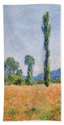 Poppy Field, Giverny Beach Towel