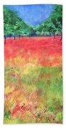 Poppy Field II Beach Towel