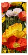Poppy Flower Garden Beach Sheet