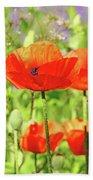 Poppy Garden Beach Sheet