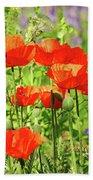 Poppy Garden I Beach Sheet
