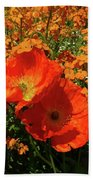 Poppy Glories Beach Towel
