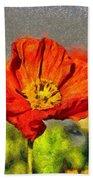 Poppy - Id 16235-142749-5072 Beach Towel