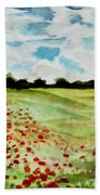 Poppy Meadow Beach Towel