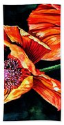 Poppy Passion Beach Towel