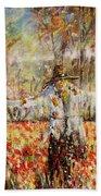 Poppy Scarecrow Beach Towel