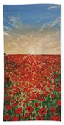 Poppy Sunset Beach Towel