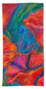 Poppy Twirl Beach Towel