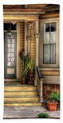 Porch - House 109 Beach Towel by Mike Savad