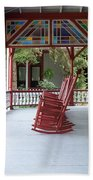 Porch With Rocking Chairs Beach Towel