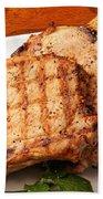 Pork Chop. Beach Towel