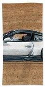 Porsche 911 Gt3r On Wood Beach Towel