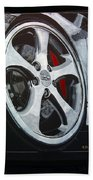 Porsche Techart Wheel Beach Towel