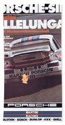Porsche Vallelunga Vintage Racing Poster Beach Towel