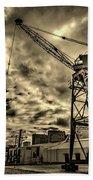 Port Crane At Sunset Beach Towel