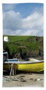 Port Isaac Boats Beach Towel