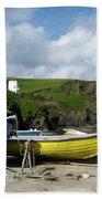 Port Isaac Boats Beach Towel
