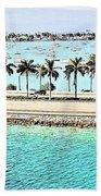 Port Of Miami - Miami, Florida Beach Towel